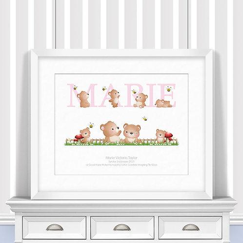 Bears Nursery Wall Art | Little Joe And Me