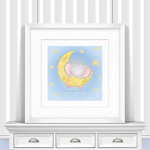 Sleeping On The Moon Nursery Wall Art   Little Joe And Me