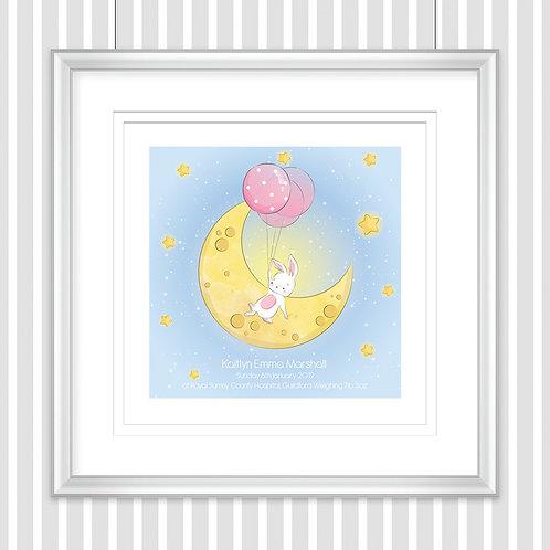 Square Personalised Nursery Print