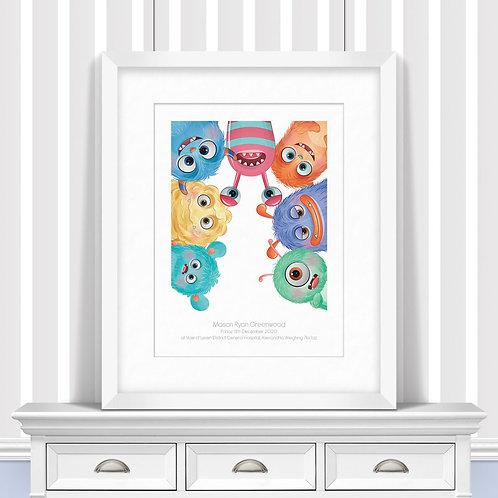 Head To Head Monsters Nursery Wall Art   Little Joe And Me
