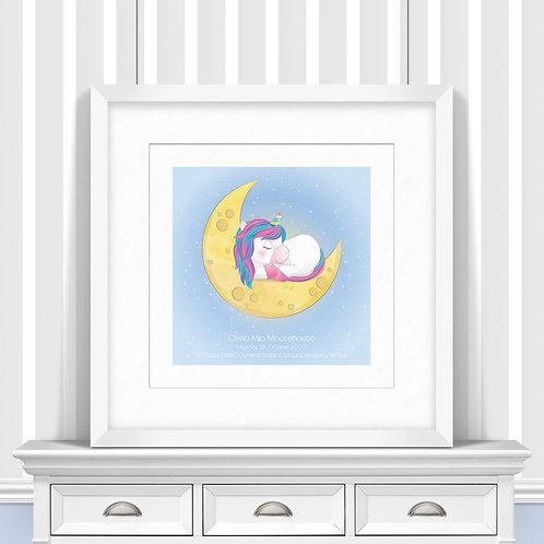 Sleeping Unicorn Nursery Wall Art | Little Joe And Me