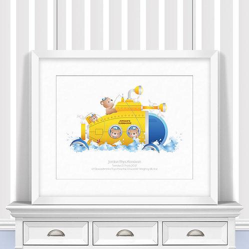 Submarine Nursery Wall Art | Little Joe And Me