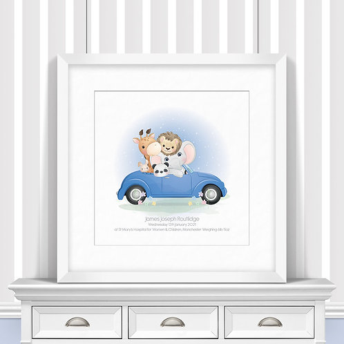 Family Day Out Nursery Wall Art   Little Joe And Me