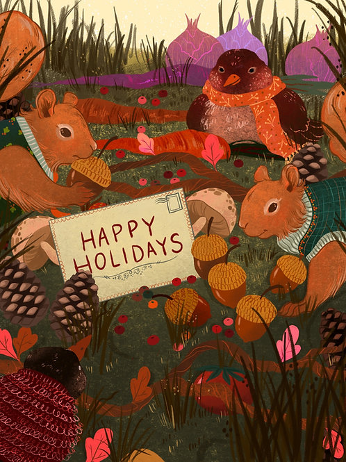 Happy Holidays Thanksgiving Card