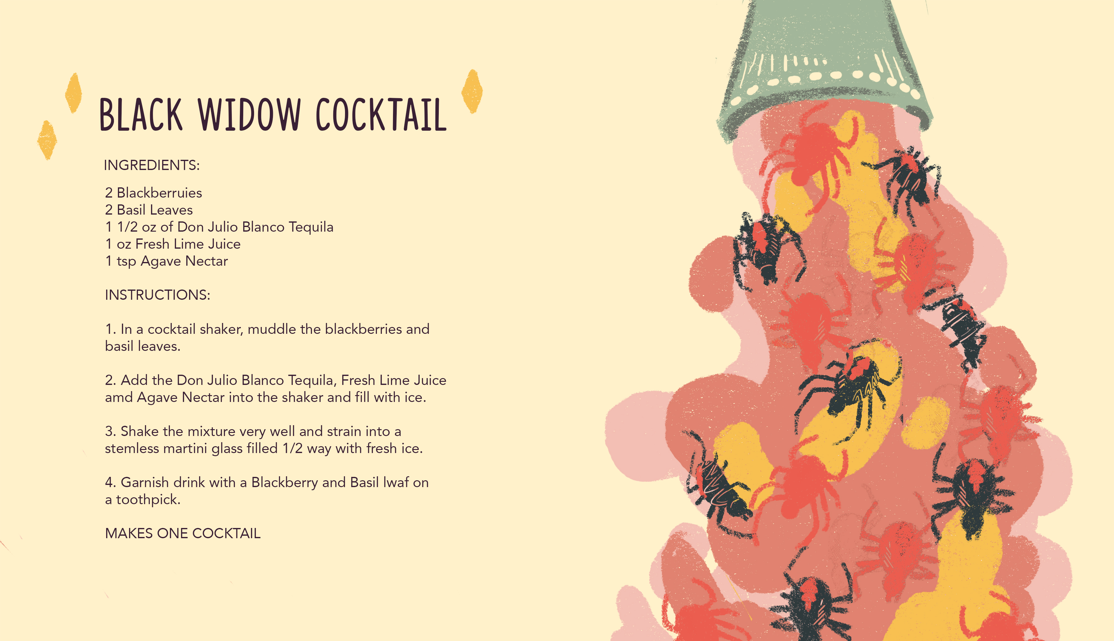 Black Widow Cocktail 1