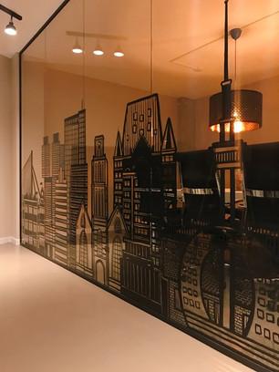 Rotterdam Skyline Window Art
