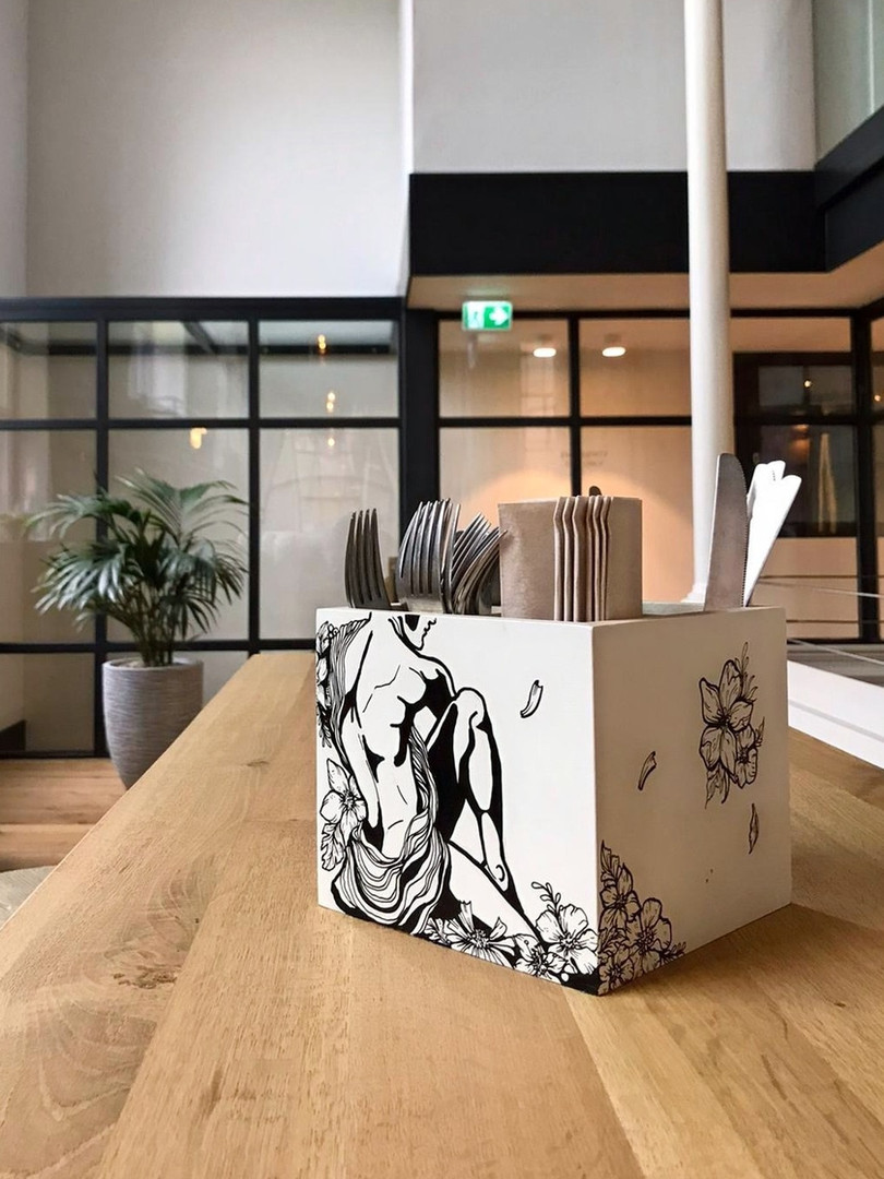 25 Customized Cutlery Tray's for BUNK Hotel, Utrecht (NL)