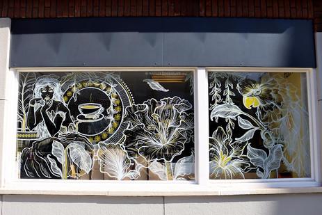 Window Art Breakfast Club, Rotterdam