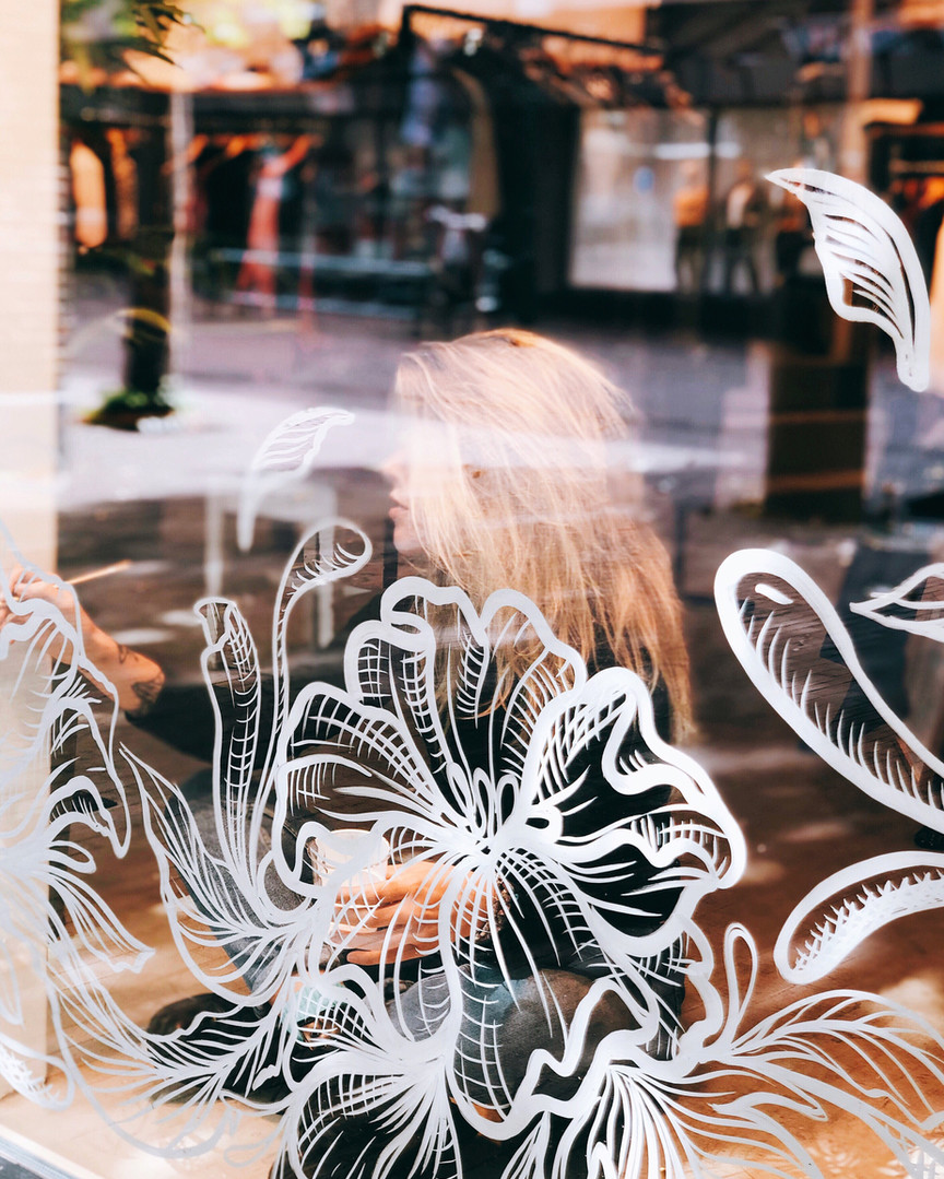Floral Window Art