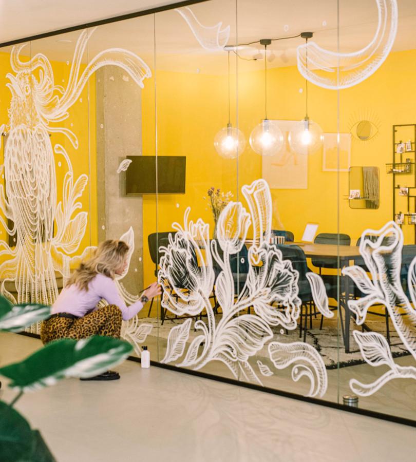 Window Art Headoffice 'Hashtag Workmode', Rotterdam (NL)