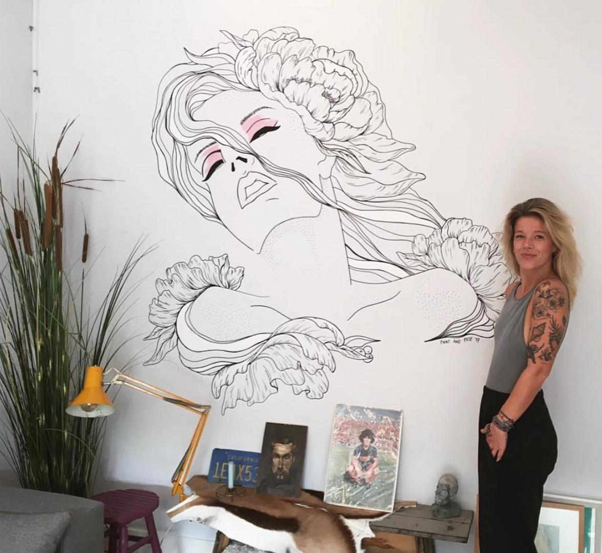Mural in Livingroom
