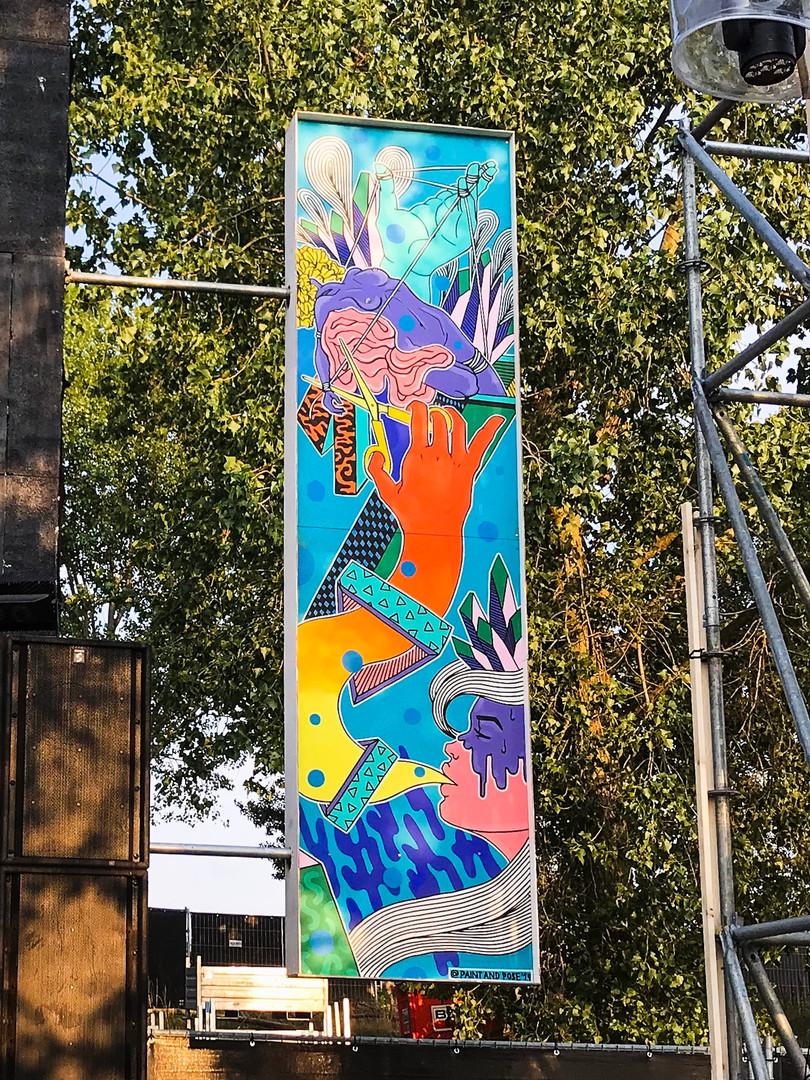 Artwork Decor Driehoek Stage