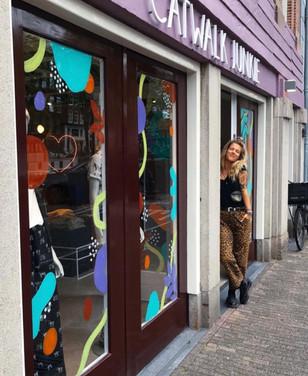 Catwalk Junkie Window Art
