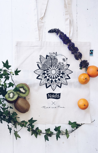 Illustration Tote-bag 'Naked Juice'