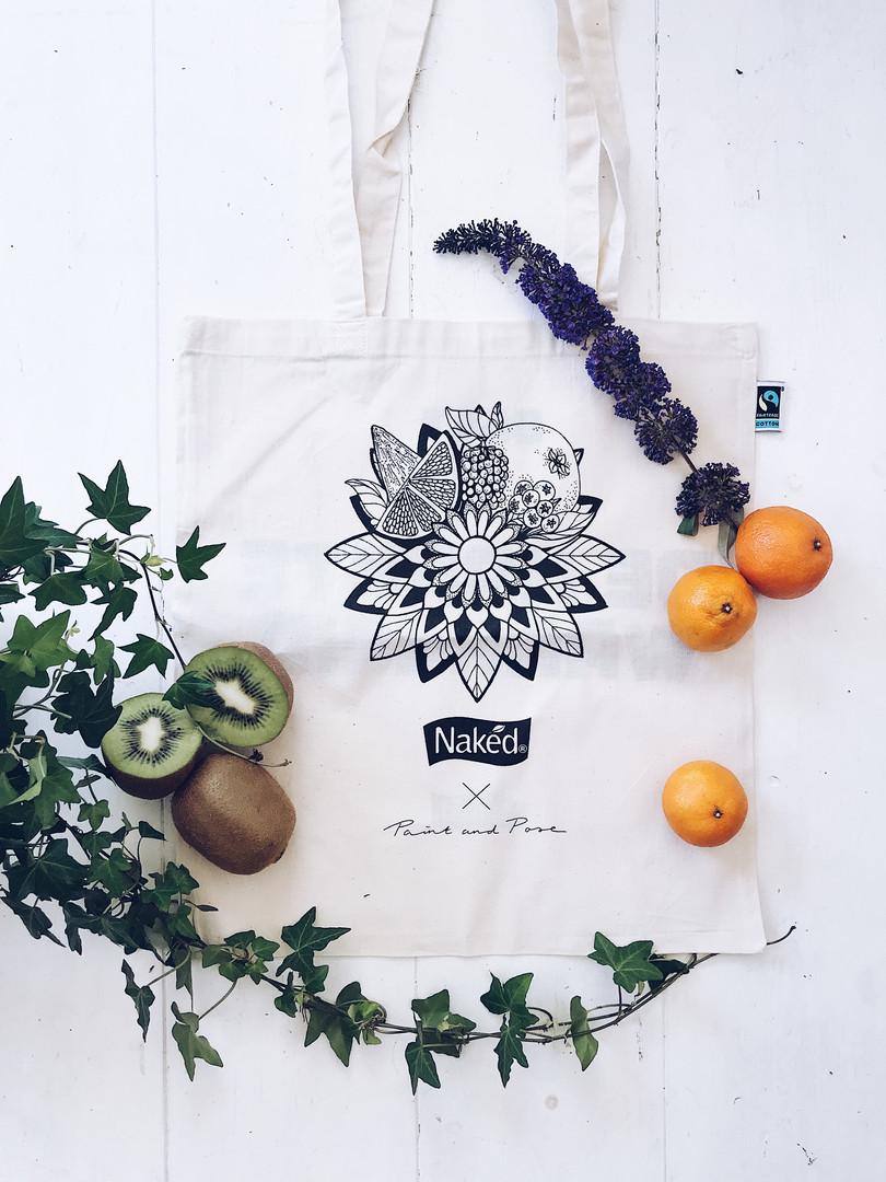 Illustration Tote-bag 'Naked Juice'