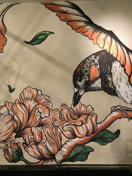 26 Meter long mural at Restaurant Luden, The Hague (NL)