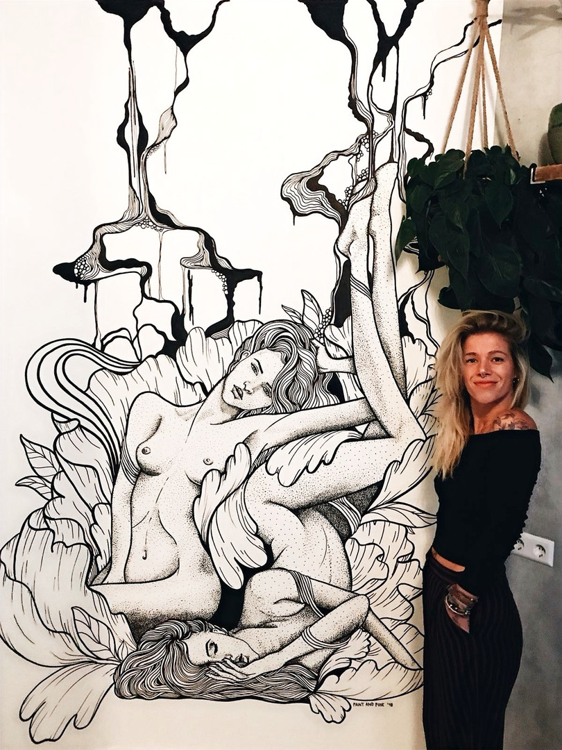 Line and Dotwork Mural