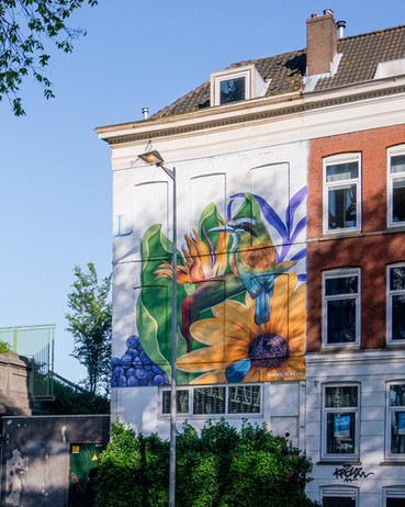 Mural in Rotterdam City (nL)