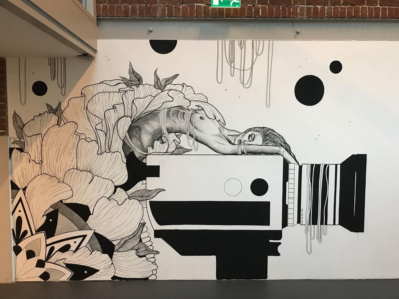 Dot & Linework Mural