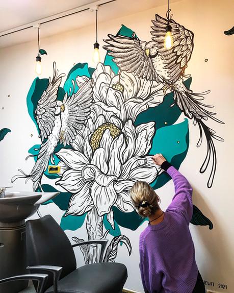 Mural Hair Salon Stuyff