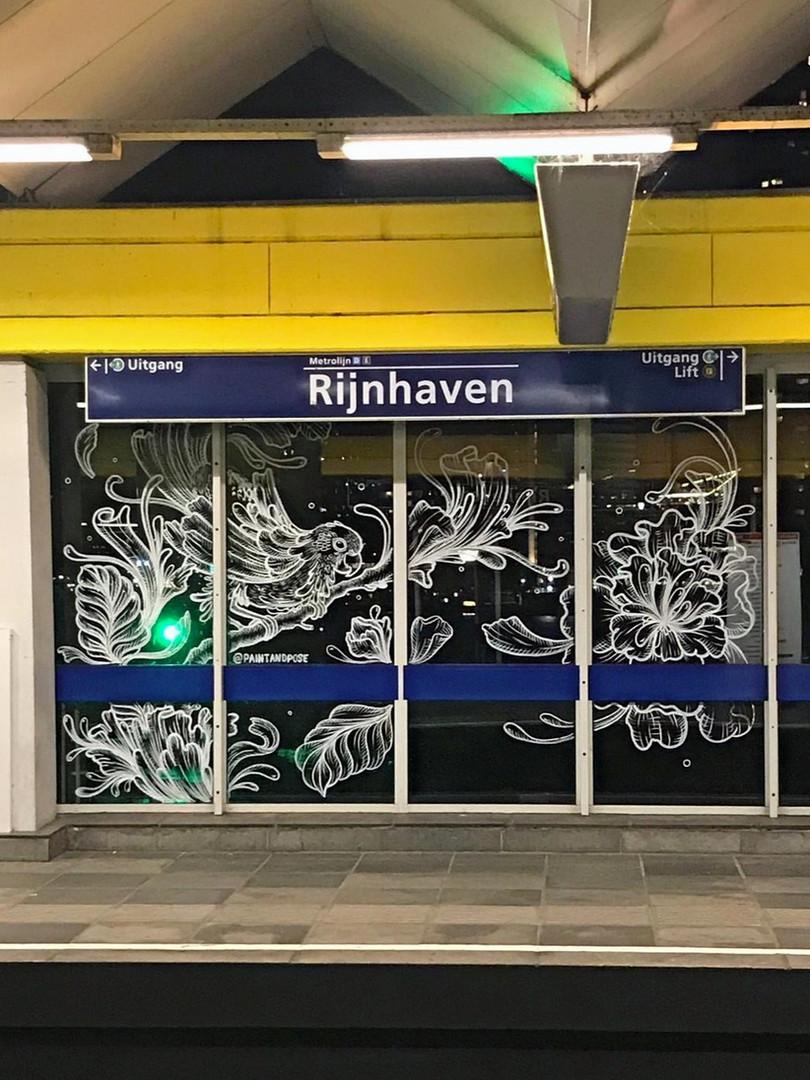 Window Art Subway-station Rijnhaven, Rotterdam
