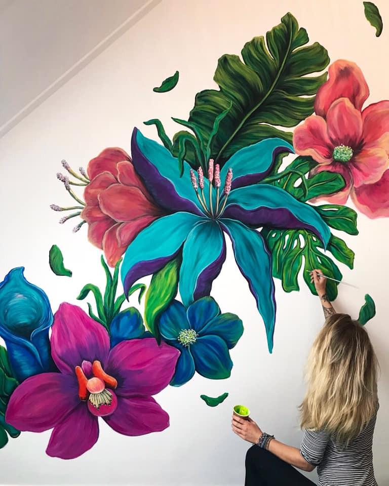 Colorfull Floral Mural