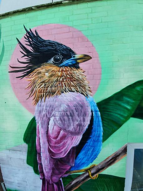Helping Muralist Nina Valkhoff