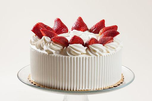 Strawberry Whipped Cream Cake 10 Inch Cake