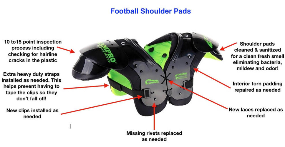 Football Shoulder Pads Reconditioning