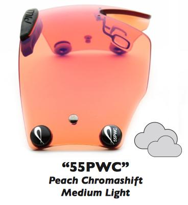 """Zeiss Chromashift """"55PWC"""" Peach Chromashift"""