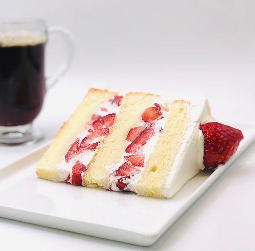 Strawberry Whipped Cream Cake Slice