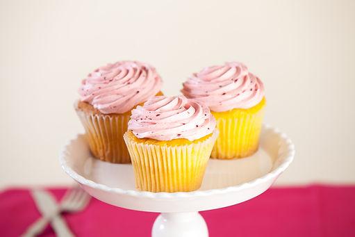 Lemon Raspberry Cupcake