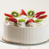 Strawberry Kiwi Whipped Cream Cake