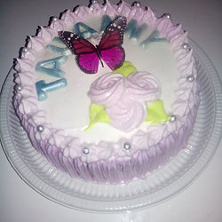 Gourmet bolos decorados bolo borboleta com chantilly altavistaventures Image collections