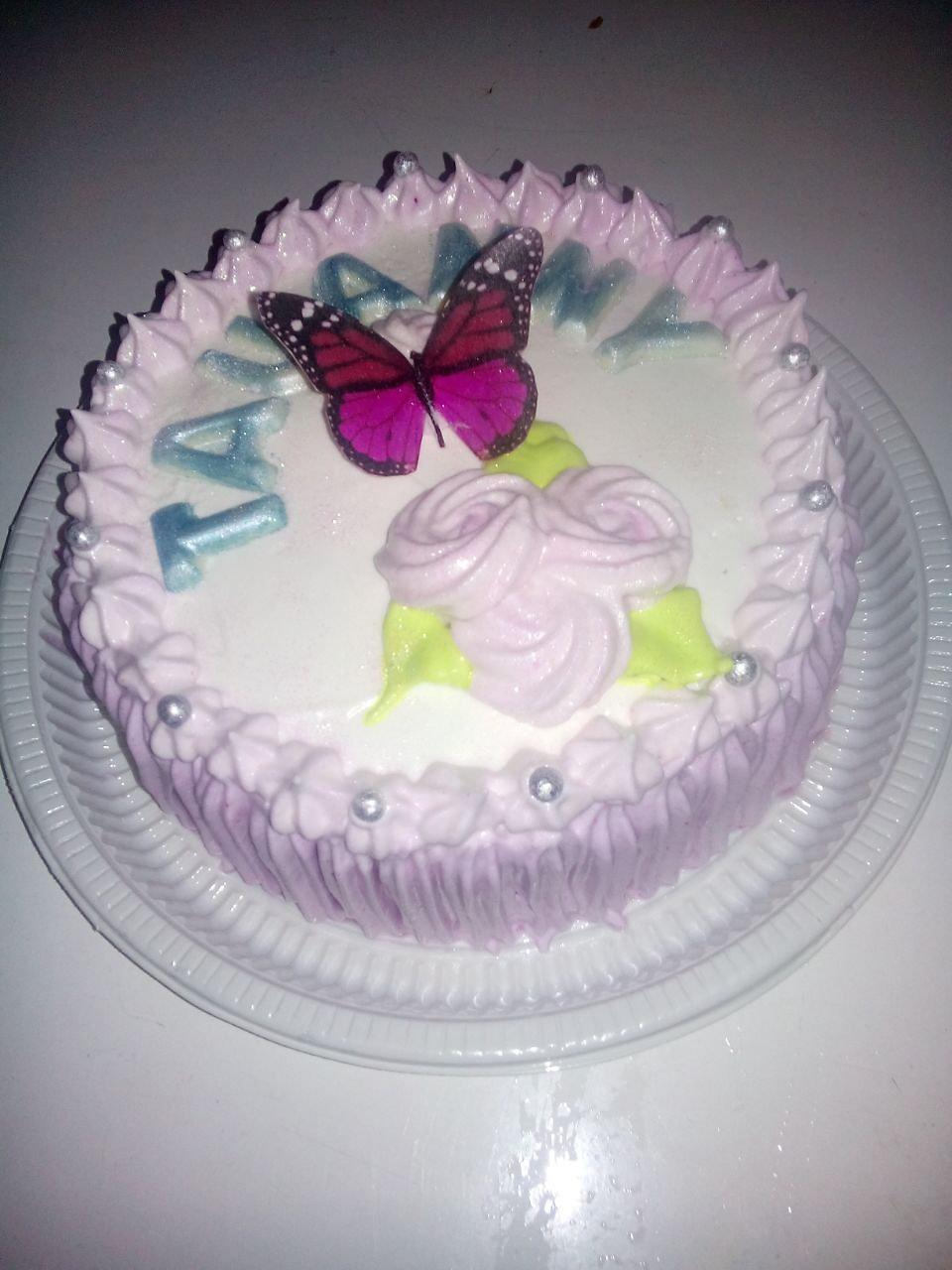 Gourmet bolos decorados bolo borboleta com chantilly altavistaventures Gallery