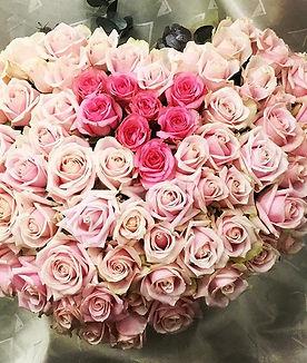 プロポーズの薔薇108本のアレンジ💖_頑張って👍__#プロポーズ_#ピンクの