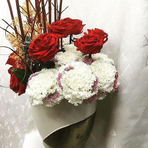 赤薔薇&ケール