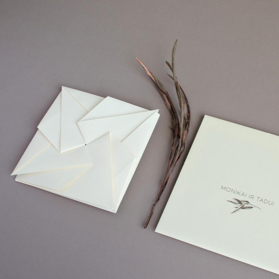 Origami kvietimai