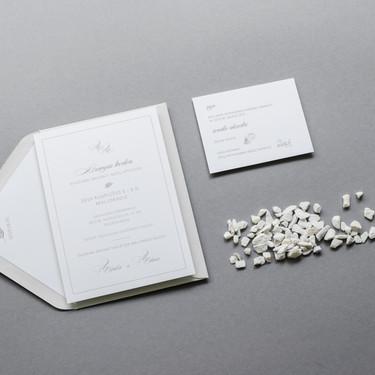 Elegantiško modernaus ir minimalistinio stiliaus kvietimai