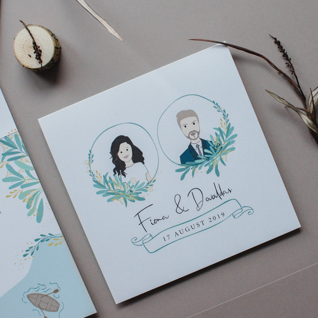 vestuviniai-kvietimai-poros-iliustracija