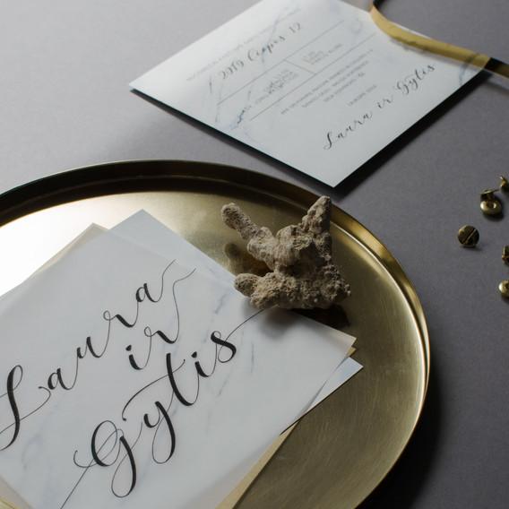 Bruknes vestuves_kvietimai su marmuru