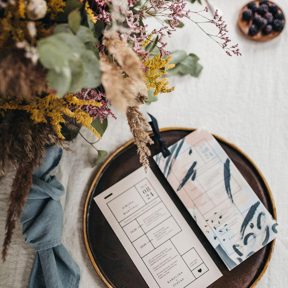 vestuviniai kvietimai vasaros abstrakcij