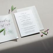 Kvietimai su akvarele tapyta hortenzija