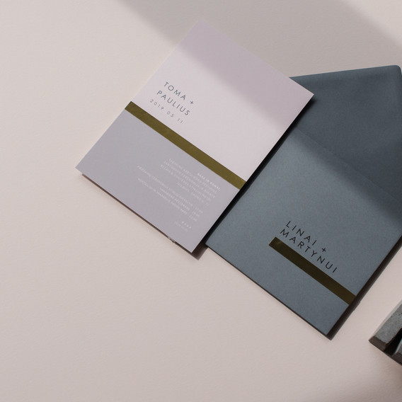 Modernūs minimalistinio pastelinių spalvų stiliaus kvietimai