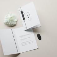 Minimal vestuviniai kvietimai - atvirukas