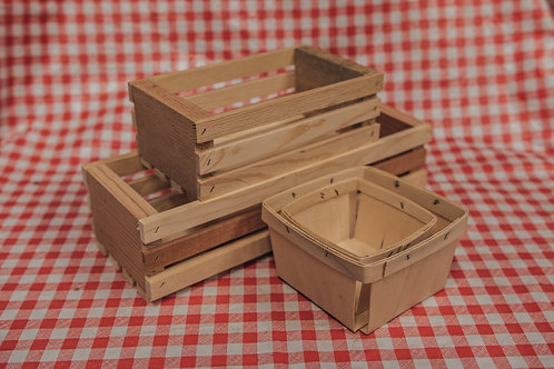 Handmade Crates & Berry Baskets