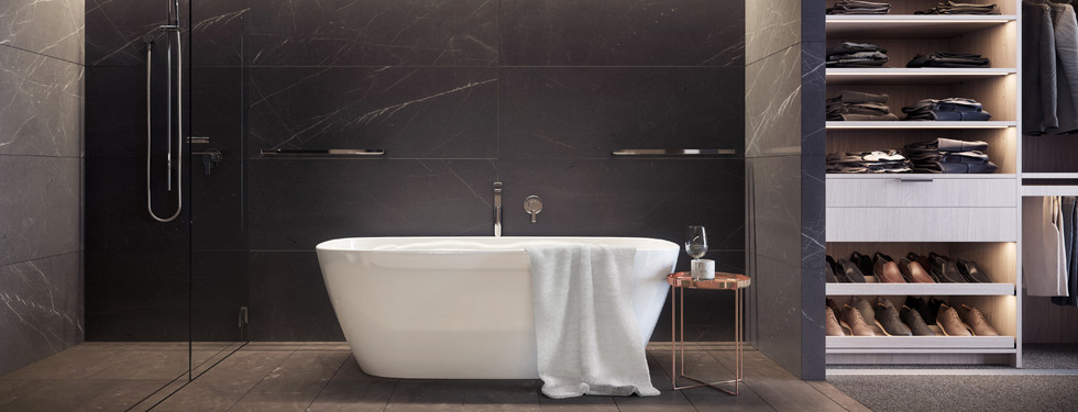 Bathroom With Freestanding Bath