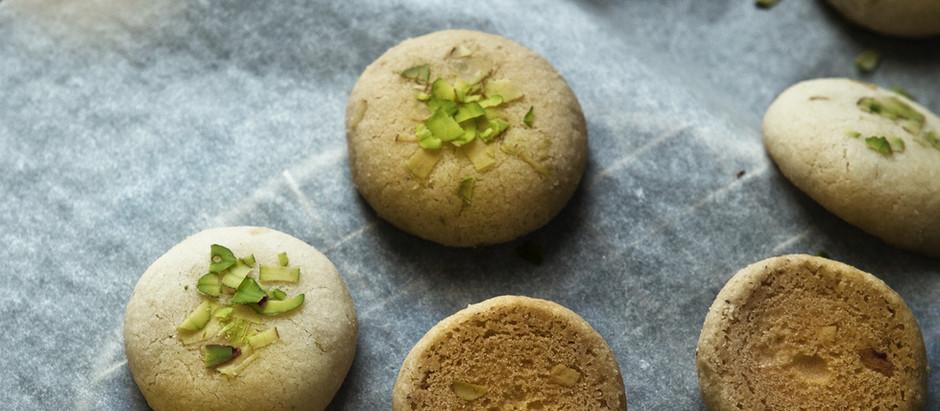 Keto PB Pistachio Cookies