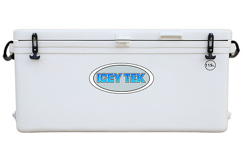 Icey Tek 115L Split Lid Cooler - Right Open - White
