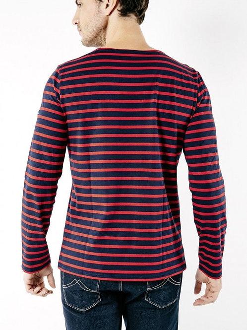 Saint James - MINQUIERS MODERNE Authentic Breton Shirt - Marine/Tulipe